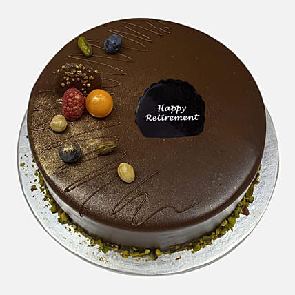 Chocolate Retirement Cake:Chocolate Cake Delivery in Singapore