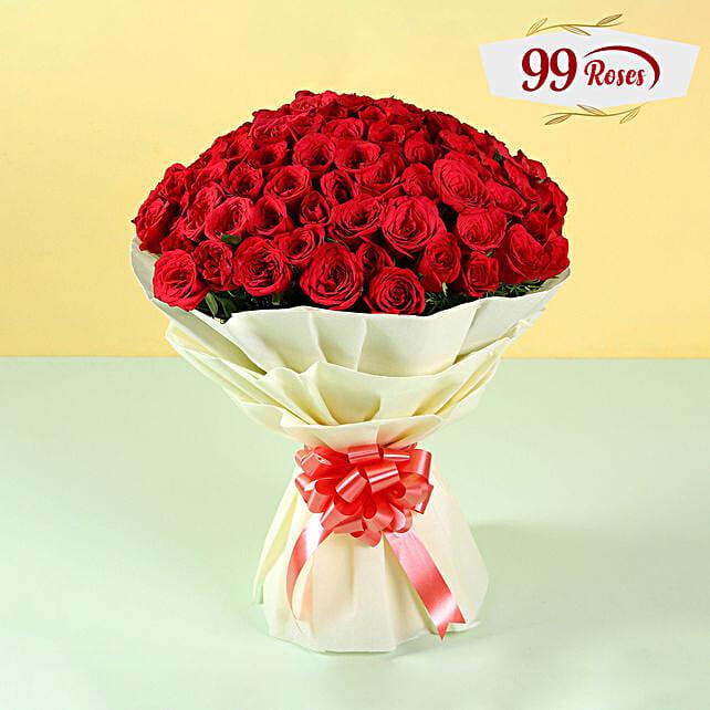Elegent Bouquet of 99 Roses