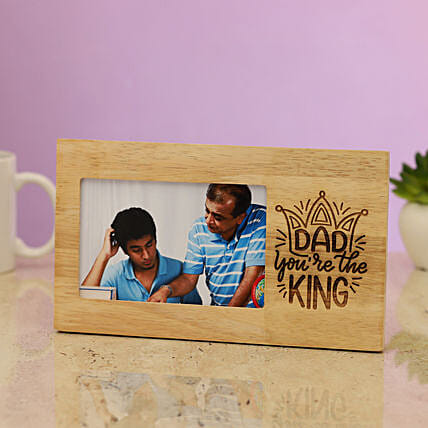 Kind Dad Engraved Photo Frame:Father's Day Presents in Sinapore