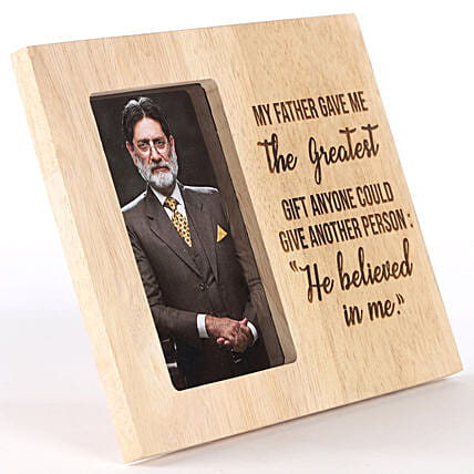 My Father Believed In Me Personalised Photo Frame