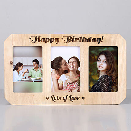Personalised Happy Birthday Wooden Photo Frame