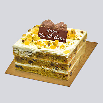 Tasty Carrot Cake For Birthday:Birthday Gift Delivery in Singapore