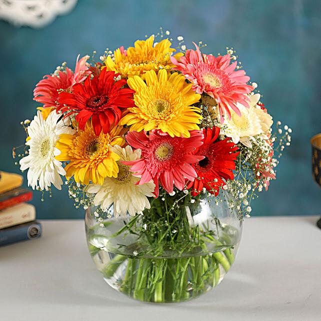 4 Classy Mix Of Gerbera Blossoms:Send Flowers to Singapore