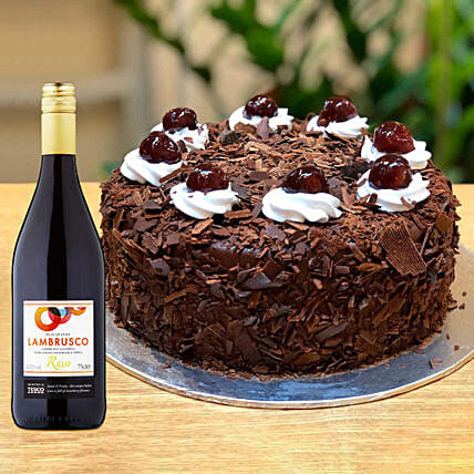 Blackforest Cake With Tesco Red Wine