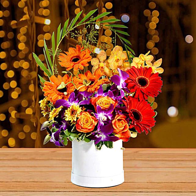 Gleaming Mixed Flowers Arrangement