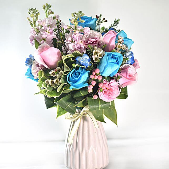 Vibrant Love Floral Vase