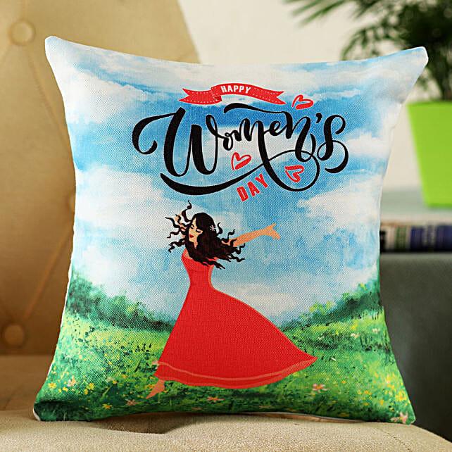 Women Day Greetings Cushion:Send Cushion to Singapore