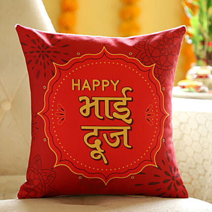 Online Hindi Wishes Cushion For Brother:Send Bhai Dooj Gifts to South Africa