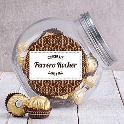 Candy Jar Of Ferrero Rocher Truffles