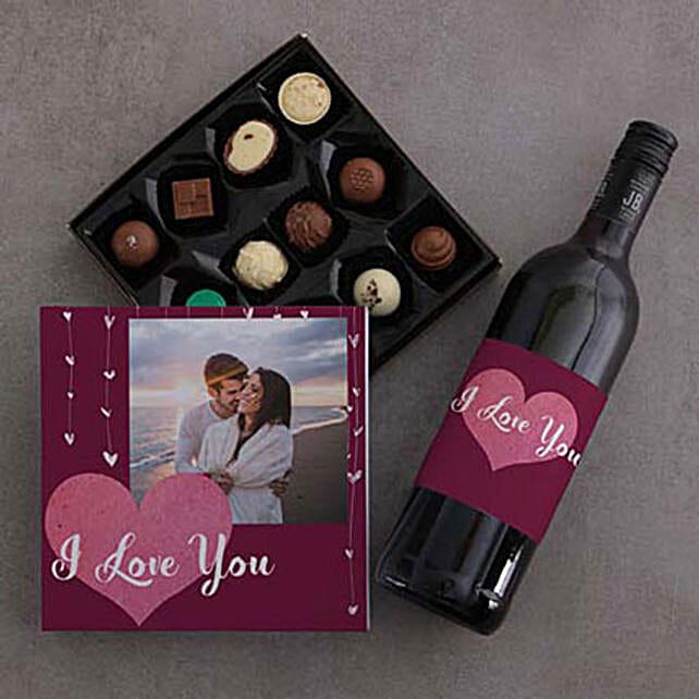 Chocolate And Wine With Photo Love