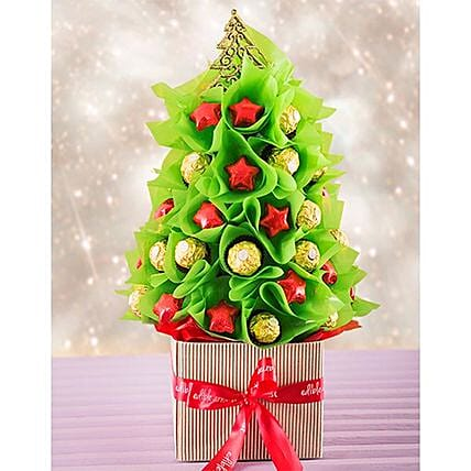 Colorful Edible Christmas Tree