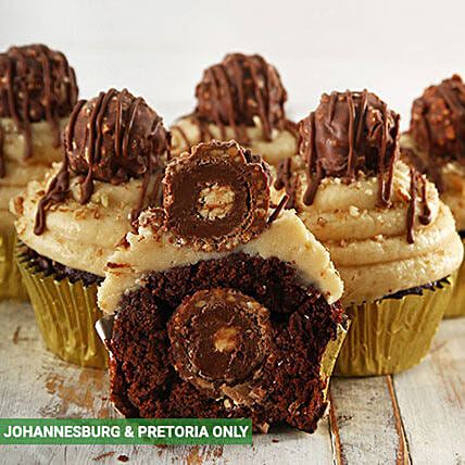 Ferrero Rocher Luxury Cupcakes:Gifts to South Africa