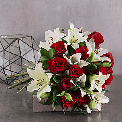 Red And White Elegant Bouquet