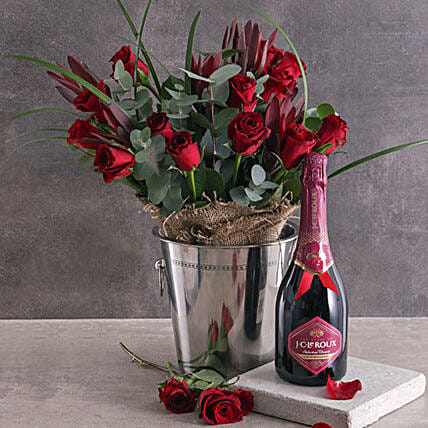 Red Roses And Romance Combo