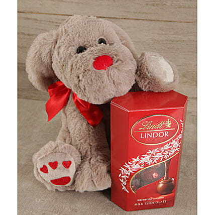 Teddy With Lindt Chocolates