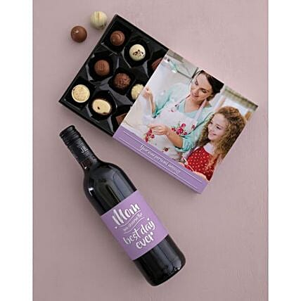 Personalised Best Day Ever Choc And Wine Combo