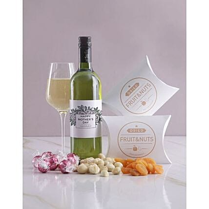 Personalised Mothers Day Fruits And Wine Hamper