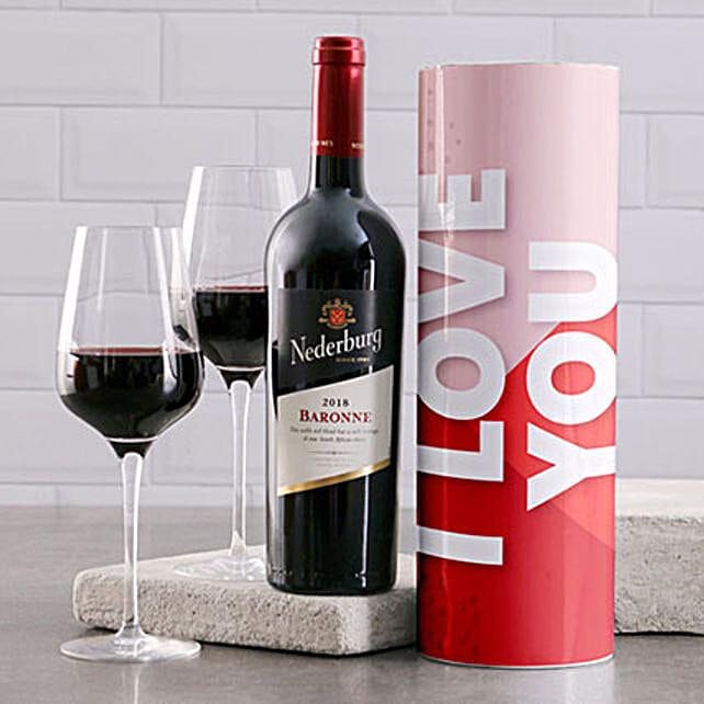Wine Tube That Says I Love You