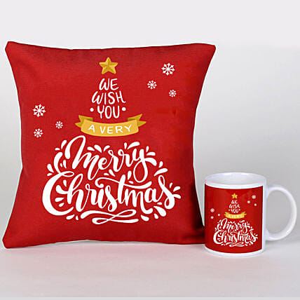 Xmas Greetings Cushion Mug And Cushion:X-Mas Gift Delivery South Africa