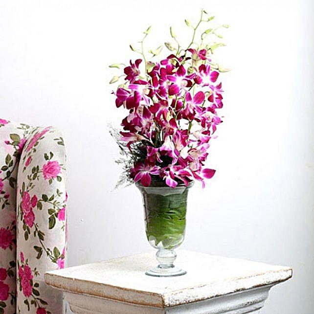 Elegant Orchids In Vase:Gifts to Sri-Lanka