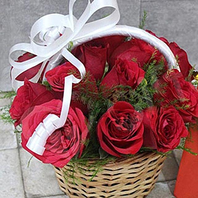 Timeless Basket Of Roses
