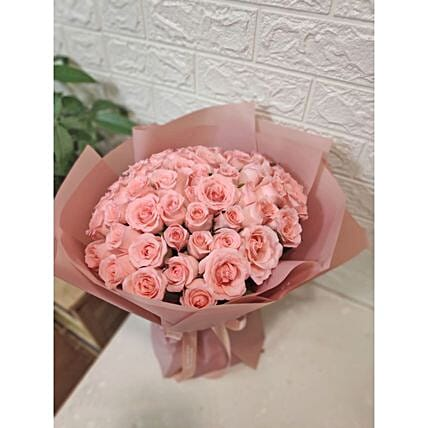 Premium Pink Rose Bouquet:Send Gifts to Taiwan