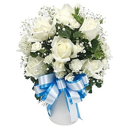 Thoughtful Expressions White Roses