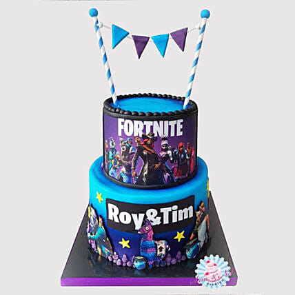 2 Tier Fortnite Cake