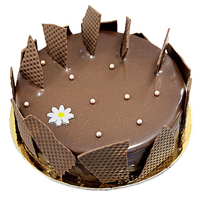 8 Portion Chocolate Glaze Cake