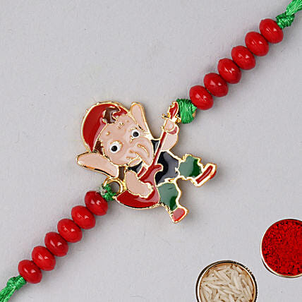 Appealing Bal Ganesha Kids Rakhi:Send Ethnic Rakhi to UAE