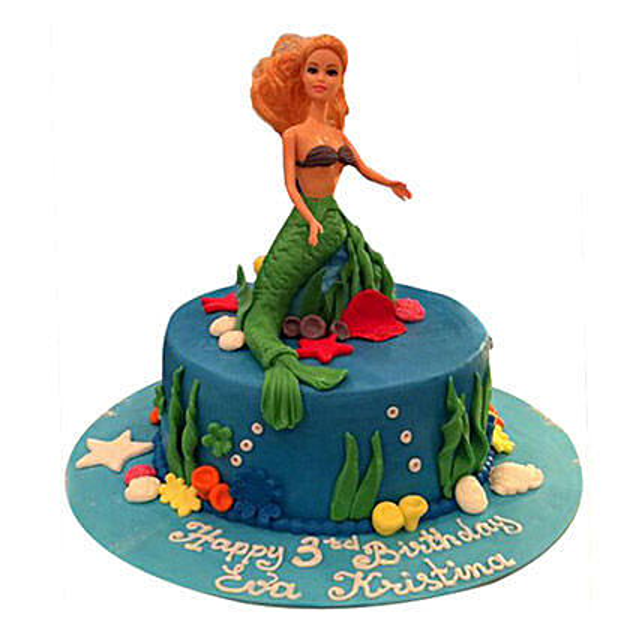 Ariel of Disney Cake