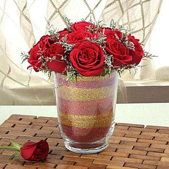 Arrangement Of Red Roses