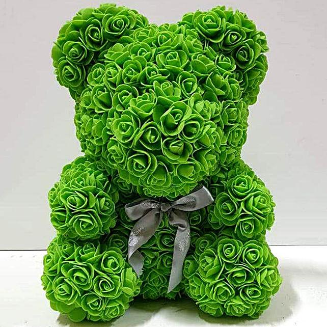Artificial Green Roses Teddy