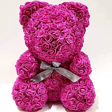 Artificial Roses Saturated Pink Teddy
