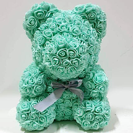 Artificial Roses Turquoise Teddy