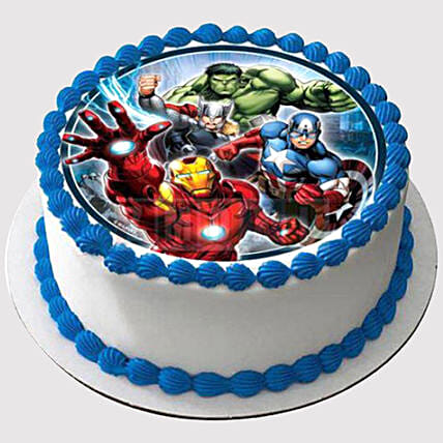 Avengers Round Photo Cake