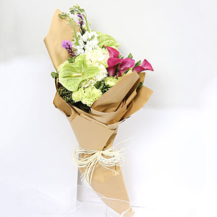 Beautiful Calla Lilies and Carnations Bouquet