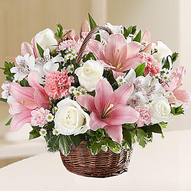 Beautiful Flowers Basket:Send Carnation Flower to UAE