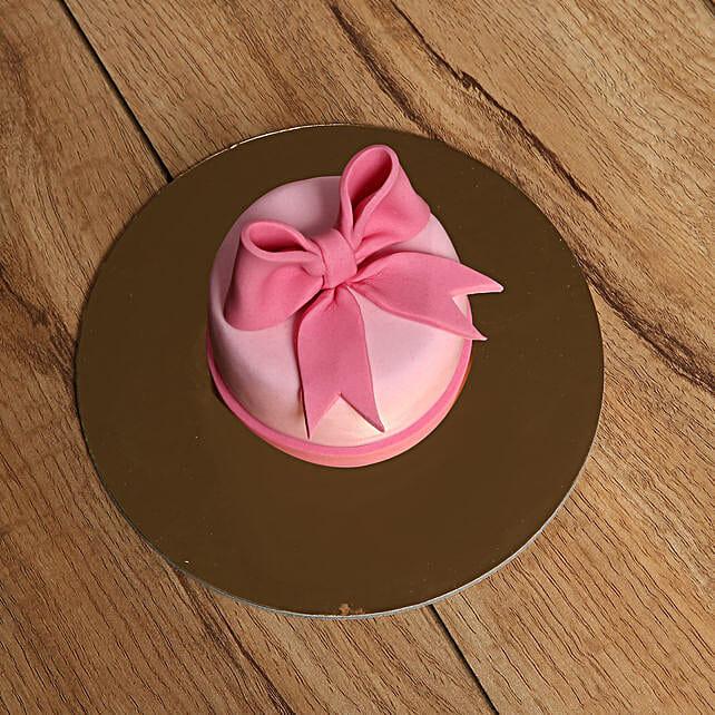 Bow Mono Cake:Send Cakes to UAE