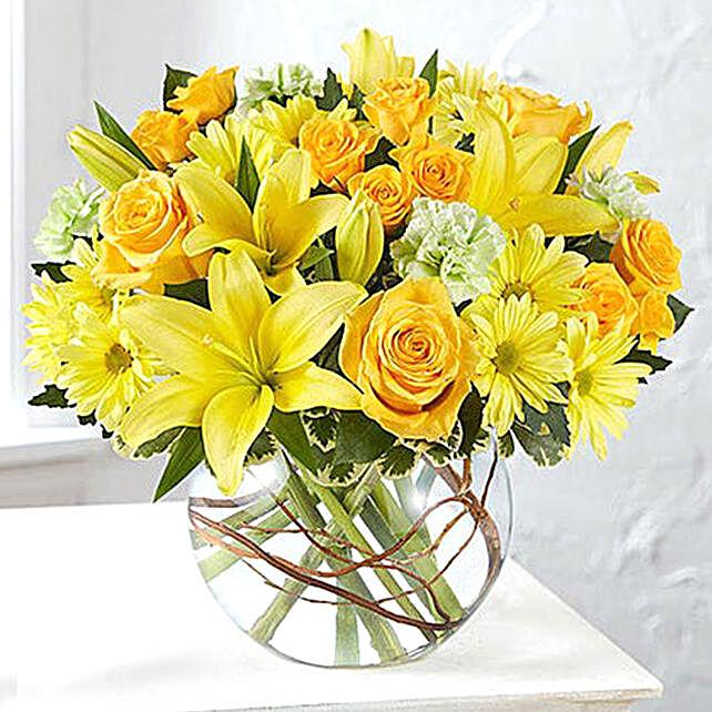 Bowl Of Happy Flowers