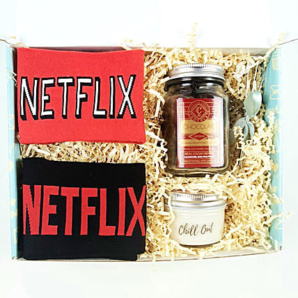Chillout with Netflix Hamper:Anniversary Gift Hampers to UAE