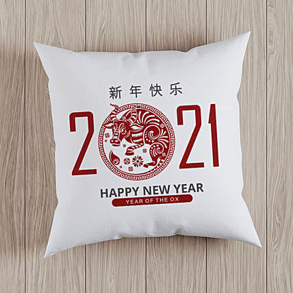 Chinese New Year Wishes Printed Cushion