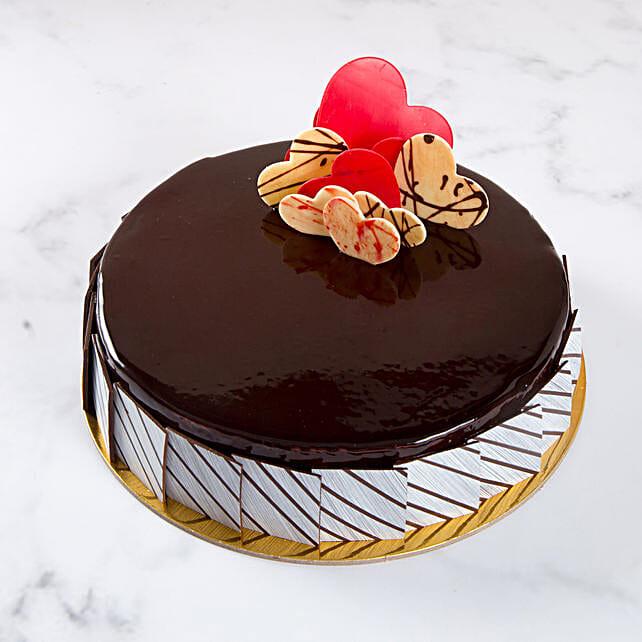 Chocolate Fudge Heart Cake