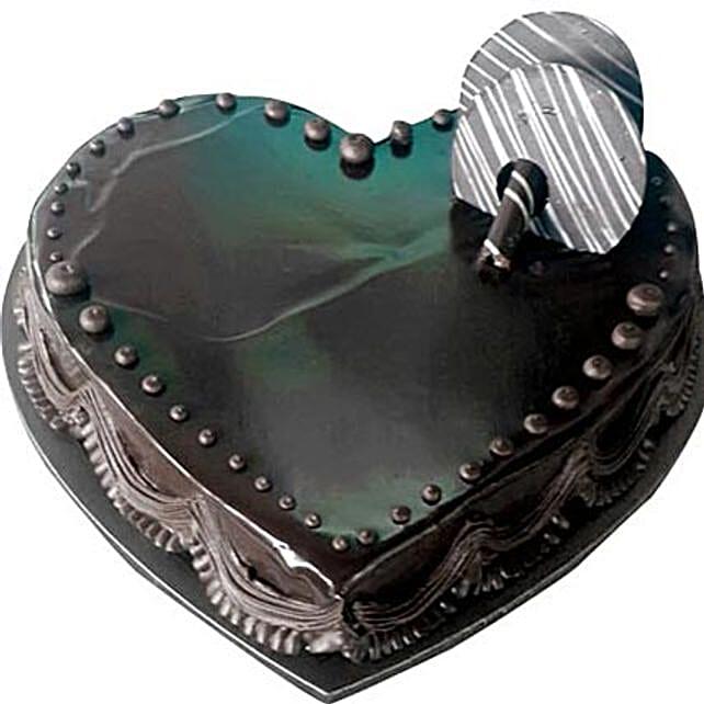 Chocolate Truffle Heartshape cake