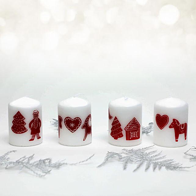 Christmas Theme Pillar Candle:Send Christmas Gifts to UAE