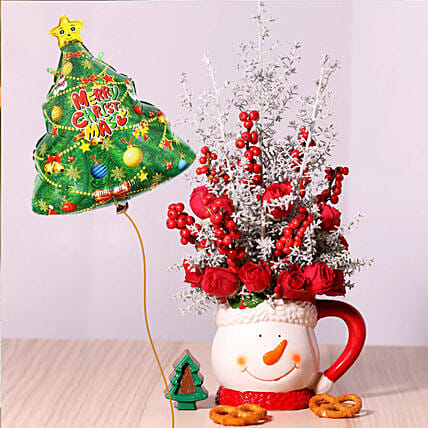 Christmas Tree Balloon and Floral Combos