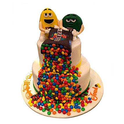 Colourful chocolate chips Cake