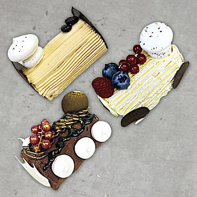 Combo of 3 log Cake
