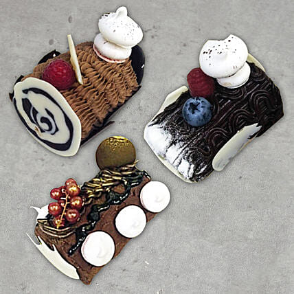 Combo of 3 Log Cakes