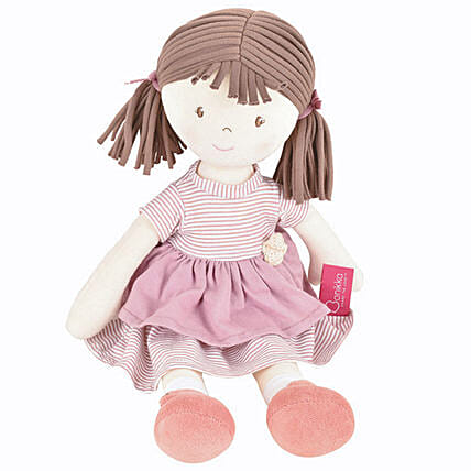 Cute Doll in Pink Dress Natural Cotton